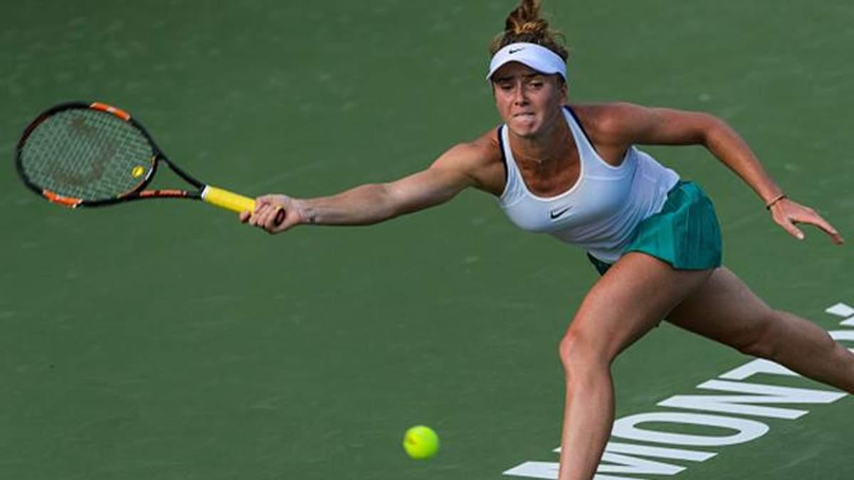 Украинская теннисистка уступила второй ракетке мира