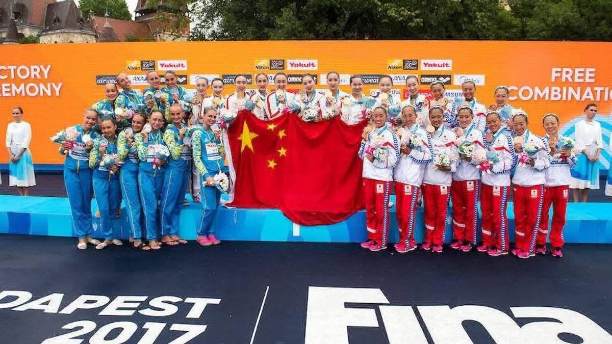 На мажорній ноті: українки вперше стали віце-чемпіонками світу з синхронного плавання