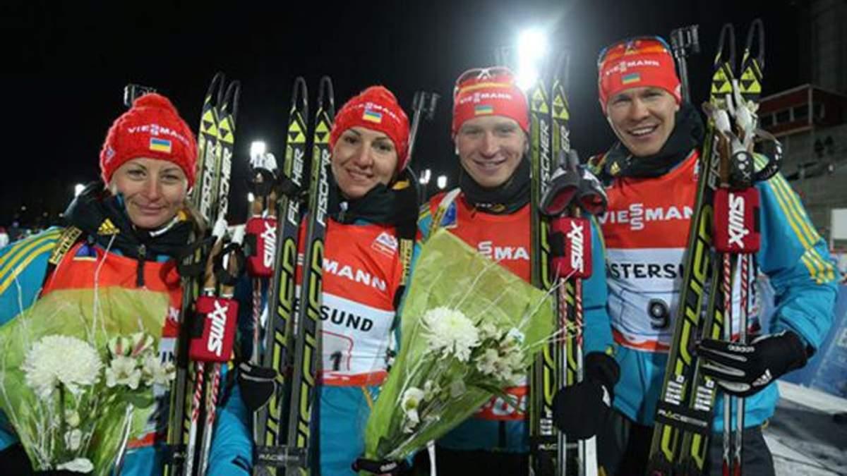 Українські біатлоністи перемогли у змішаній естафеті на чемпіонаті Європи