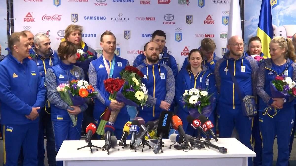 Як зустріли українських олімпійців вдома: красномовне відео