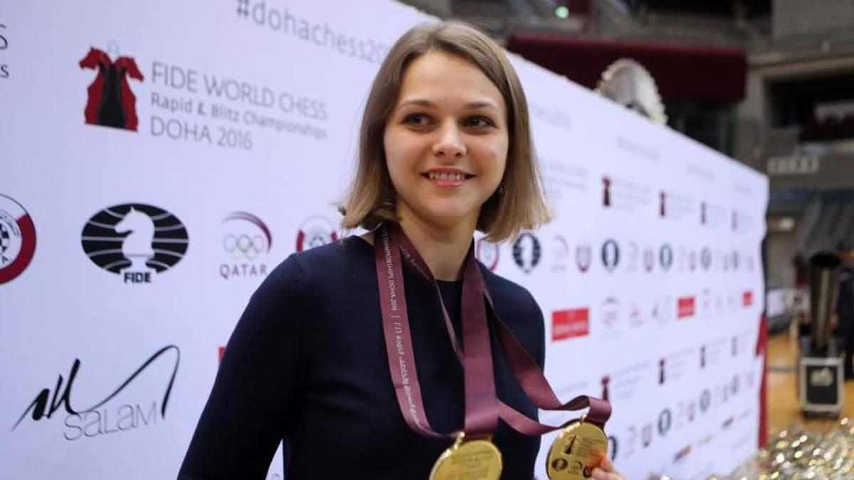 Ведущая украинская шахматистка Музычук получила от Криштиану Роналду незабываемый подарок