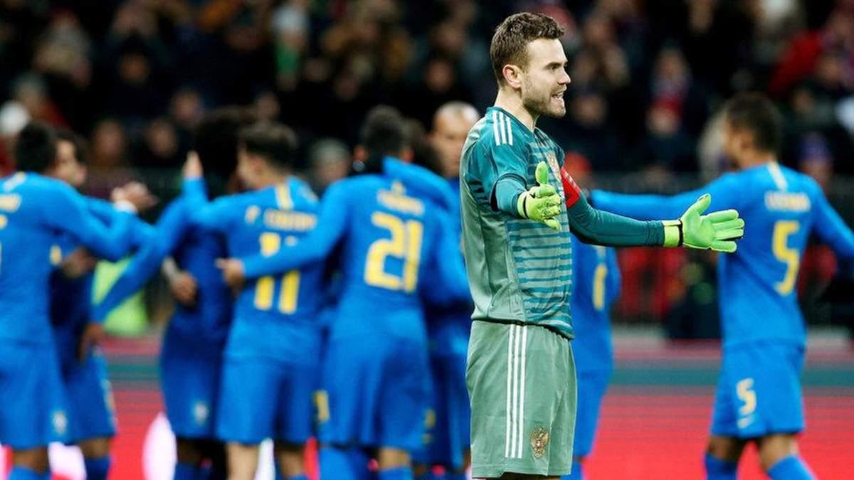 Бразилія влаштувала справжній футбольний майстер-клас Росії у Москві