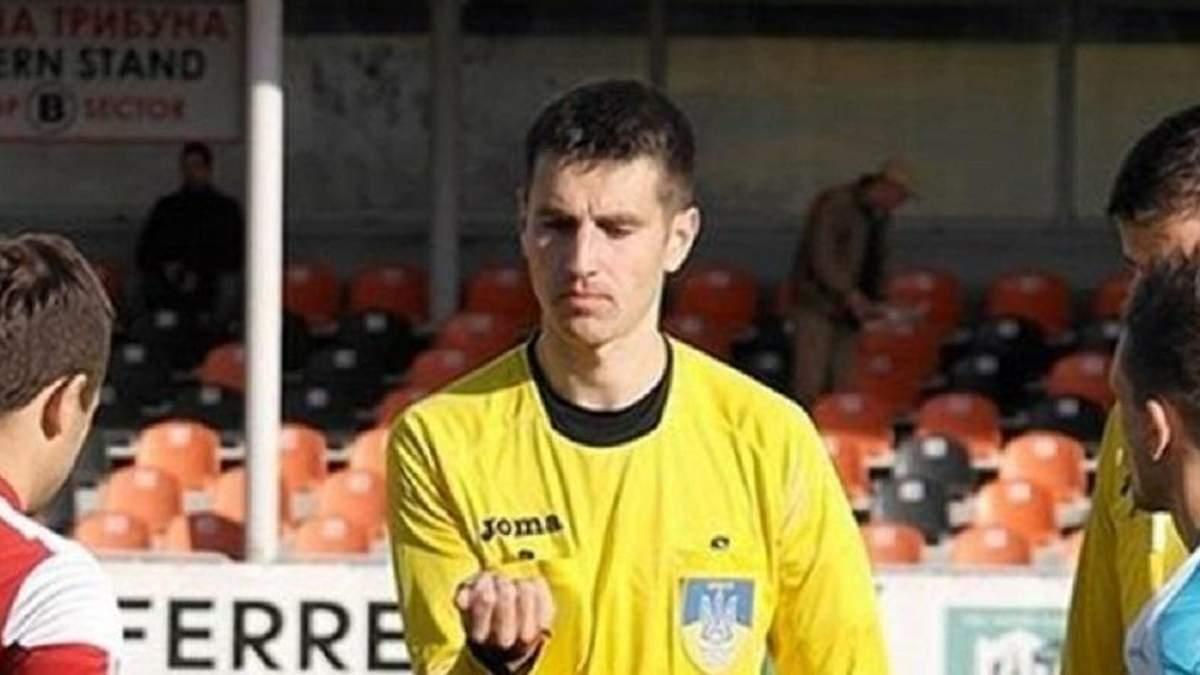 Арбітра Першої ліги Солов'яна затримали через підозри в іграх на тоталізаторі