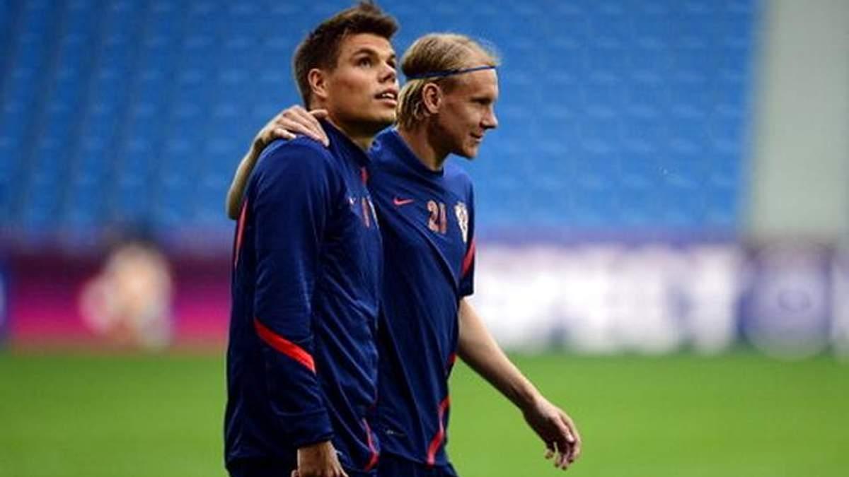 Игроки Хорватской сборной после победы над Россией записали обращение к украинцам