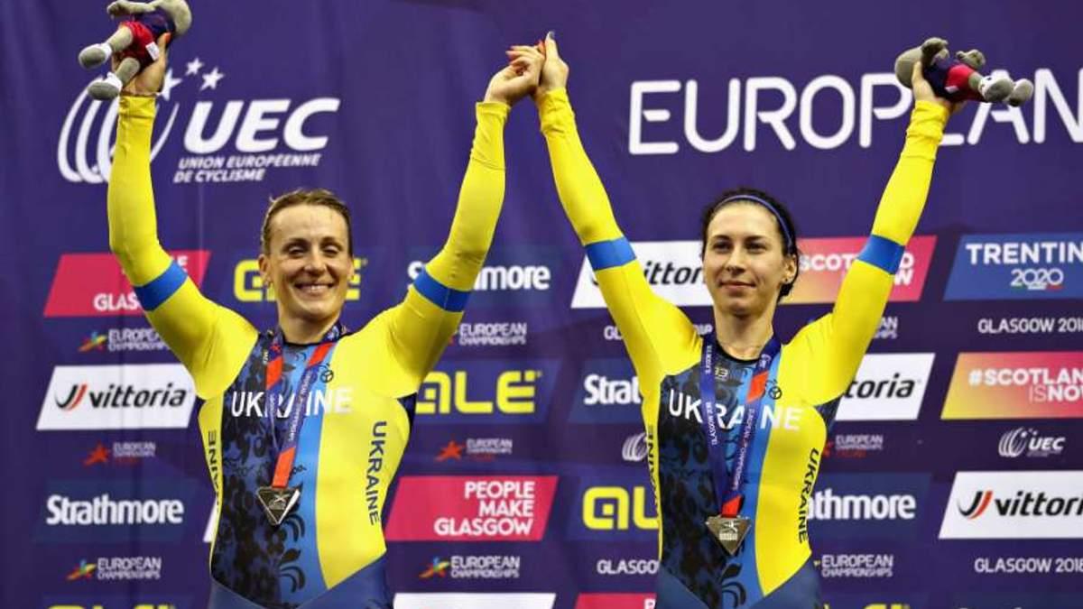 Українки виграли срібло у командному спринті на чемпіонаті Європи з велотреку