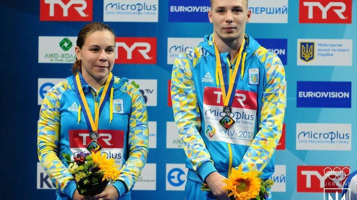 Українці здобули бронзові нагороди на чемпіонаті Європи зі стрибків у воду