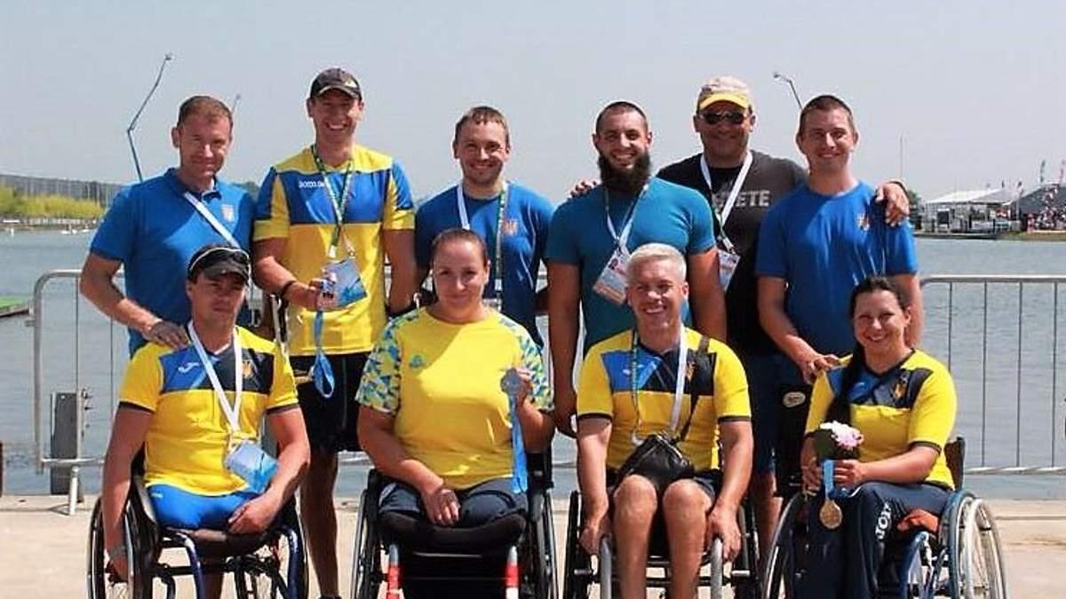 Національна паралімпійська збірна команда з параканое стала віце-чемпіоном світу