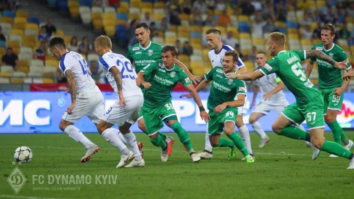 Динамо - Карпаты: видео голов и моментов матча