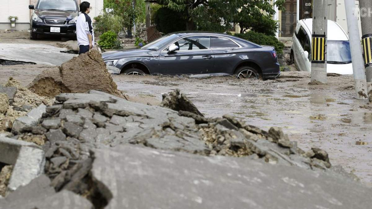 Последствия землетрясения в Саппаро