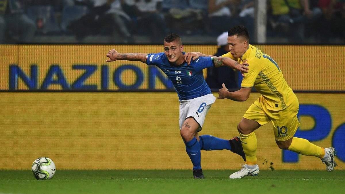Сборная Украины сыграла вничью со сборной Италии
