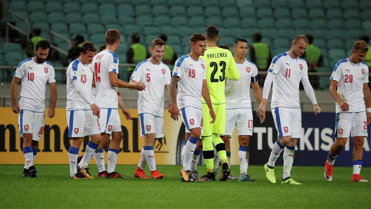 Збірна Чехії втратила 5 футболістів перед матчем Ліги націй з Україною