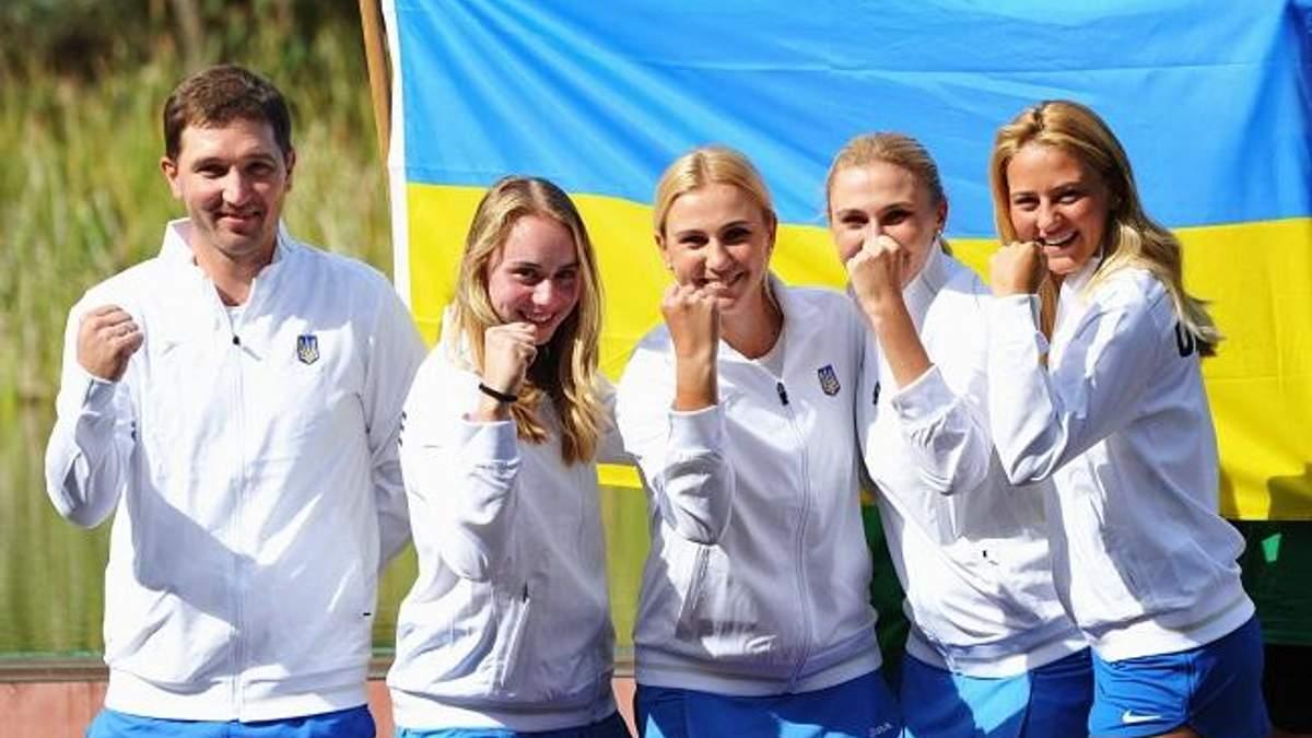 Сборная Украины попала в одну группу с Россией в Кубке Федерации