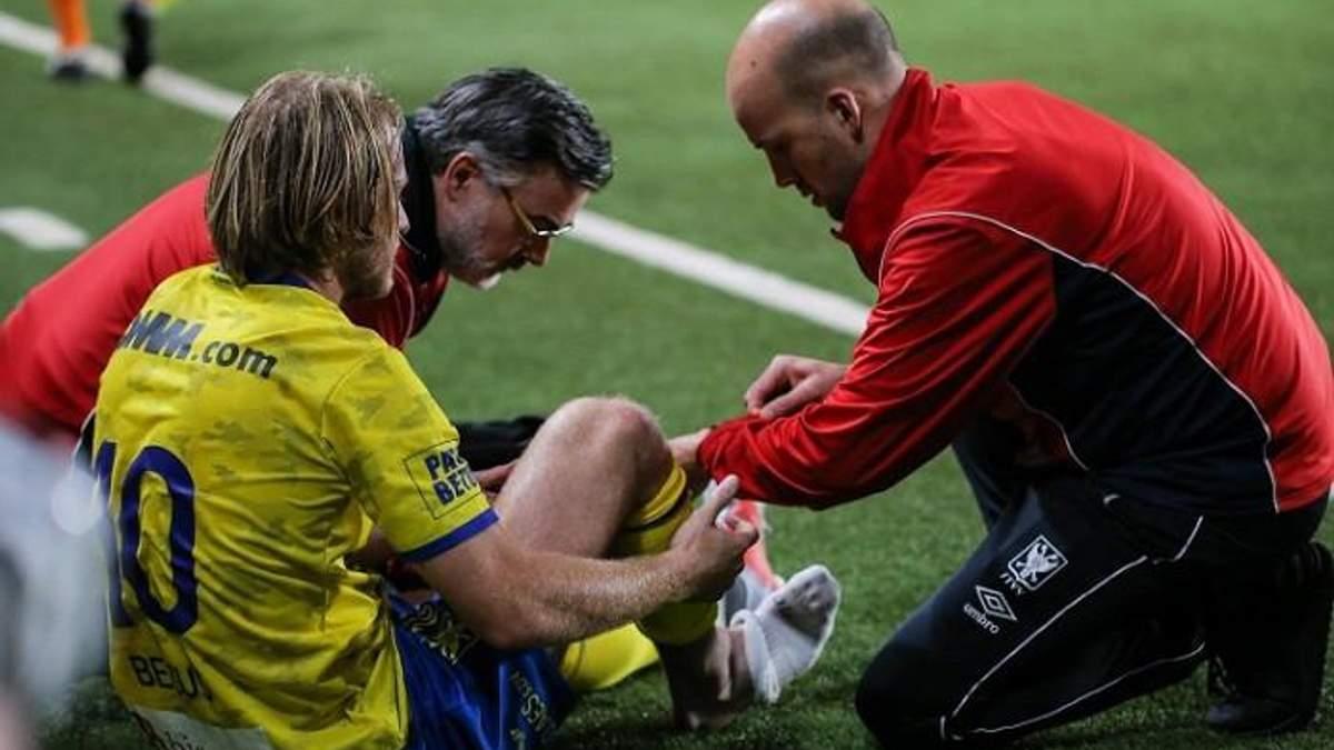 Украинец Безус получил тяжелую травму в чемпионате Бельгии