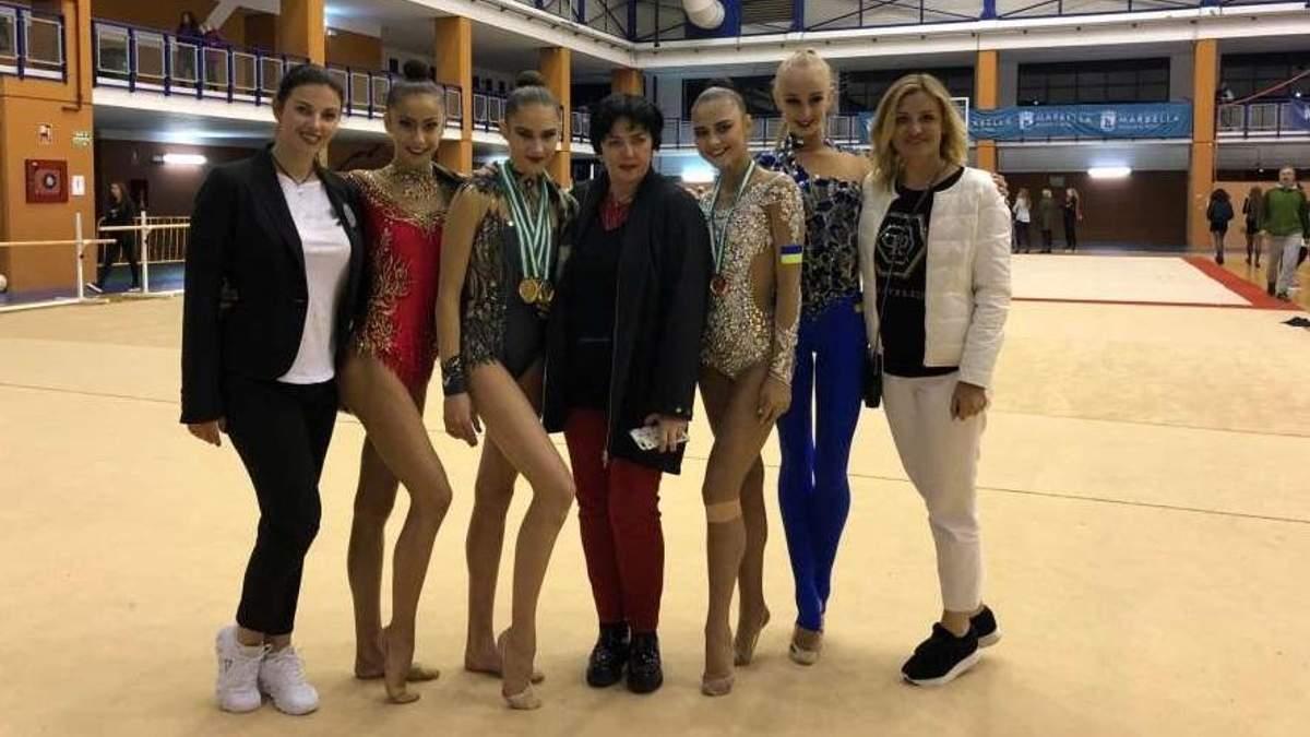 Українські гімнастки завоювали п'ять медалей на гран-прі в Іспанії