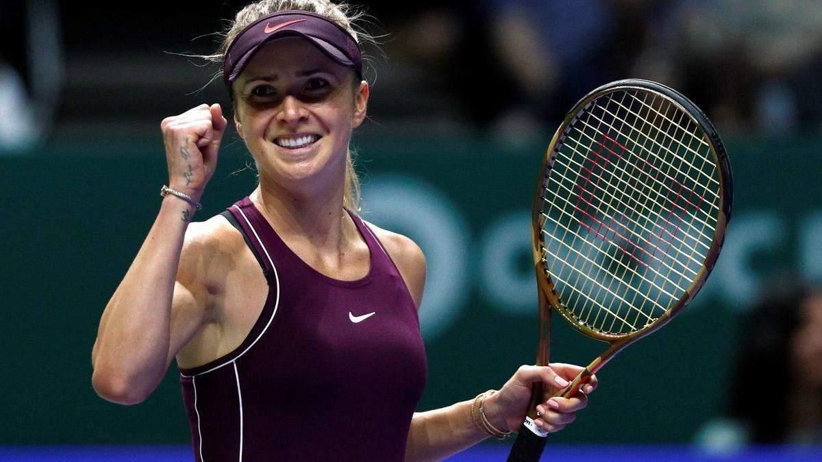 Как Свитолина празднует победу на Итоговом турнире WTA: фото