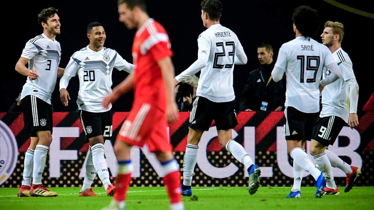 Сборная Германии по футболу повторила антирекорд 40-летней давности