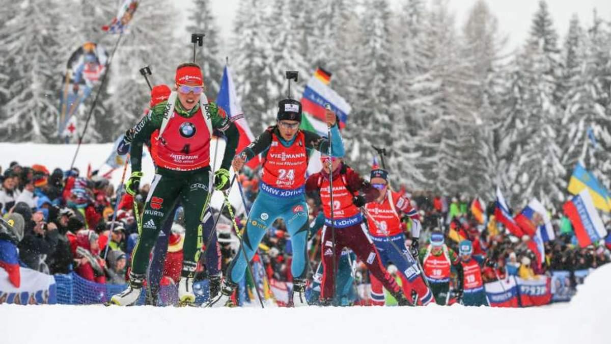 Українські біатлоністи взяли бронзу в першій гонці етапу Кубка світу