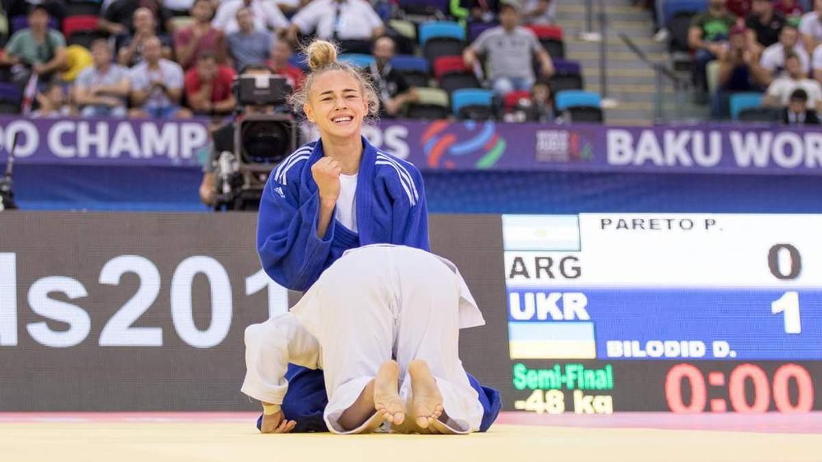18-летняя украинка Билодид признана лучшей дзюдоисткой мира