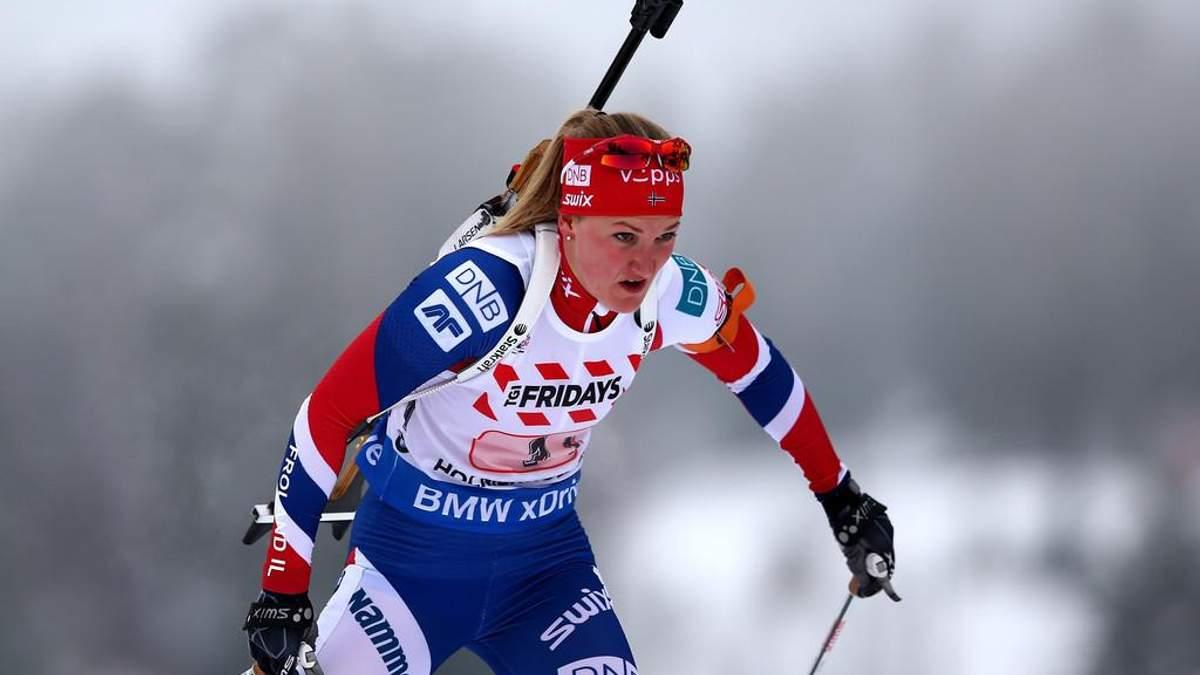 Біатлон: Олсбю перемогла в спринті, Віта Семеренко фінішувала сьомою
