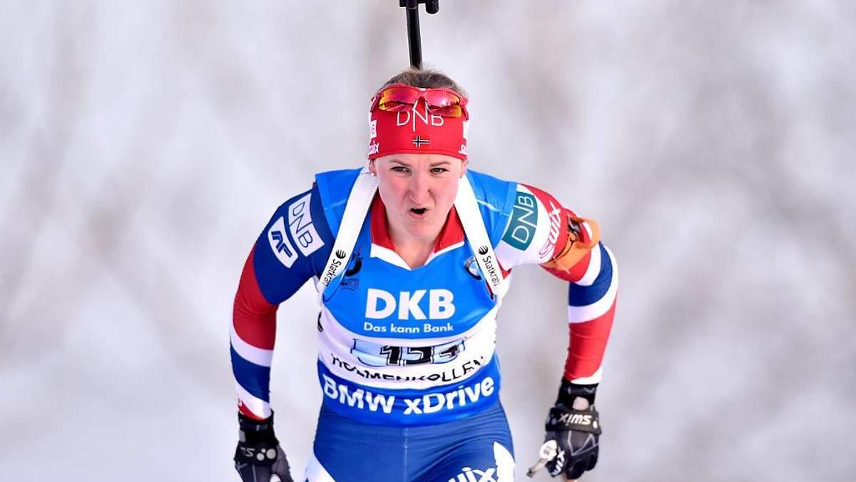 Биатлон: Олсбю на финише вырвала победу у Вирер, Семеренко финишировала 7-й