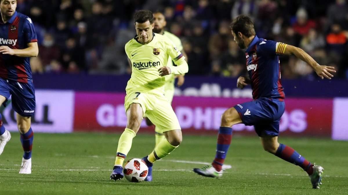 Леванте – Барселона: видео голов, обзор матча Кубок Испании