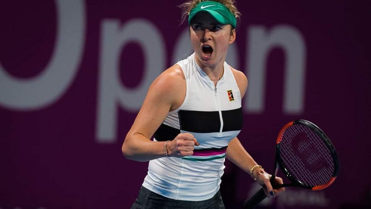 Світоліна вдало розпочала захист титулу на турнірі в Дубаї
