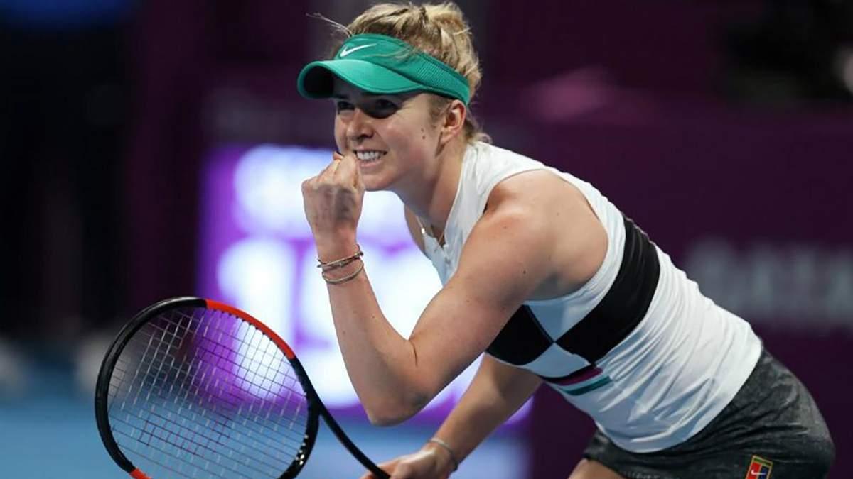 Свитолина уверенно вышла в полуфинал турнира в Дубае