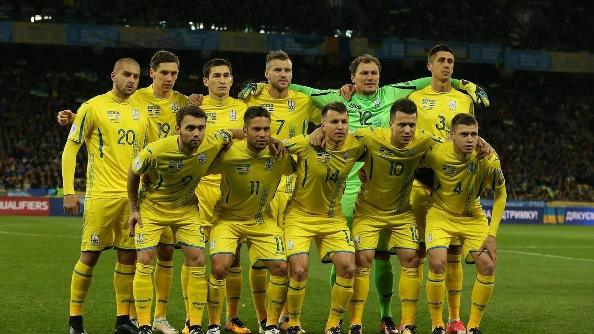 Календарь матчей сборной Украины по футболу