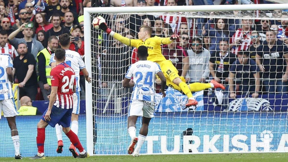 Украинский вратарь Лунин показал невероятную игру против лидера Ла Лиги и отразил пенальти:видео