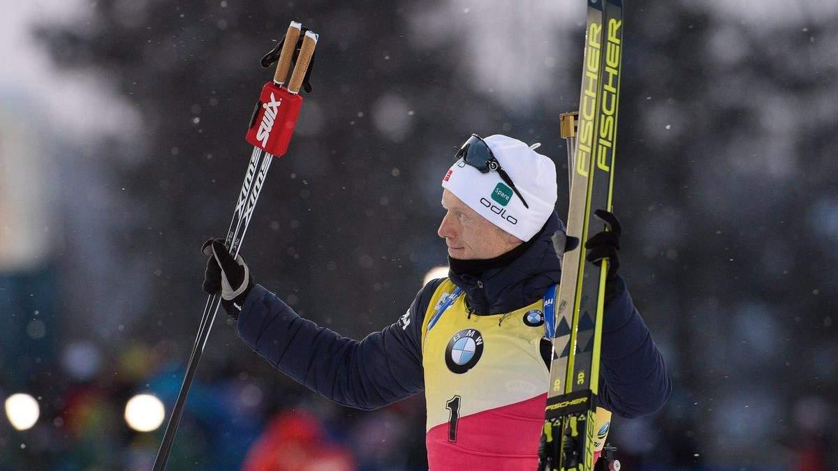 Титулованный норвежский биатлонист Бьо разочарован победой Подручного