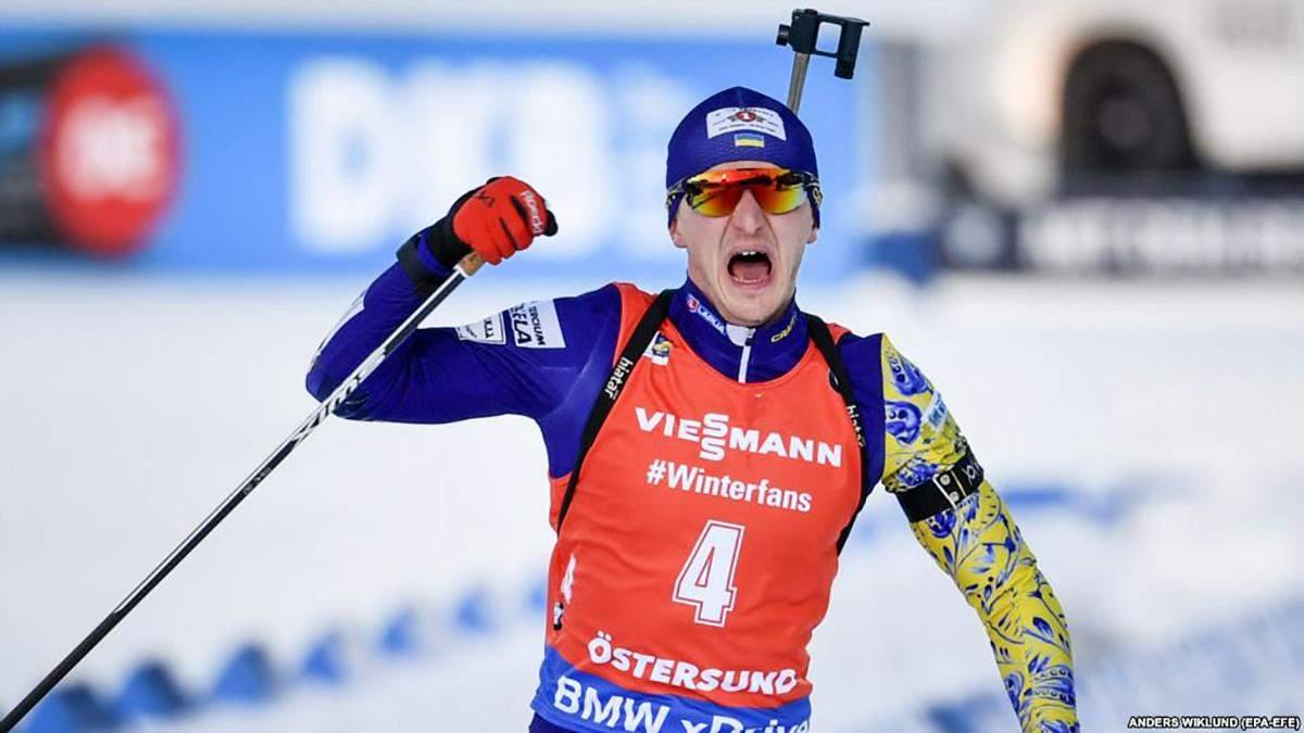 Стало відомо, скільки Дмитро Підручний заробив за перемогу на чемпіонаті світу з біатлону