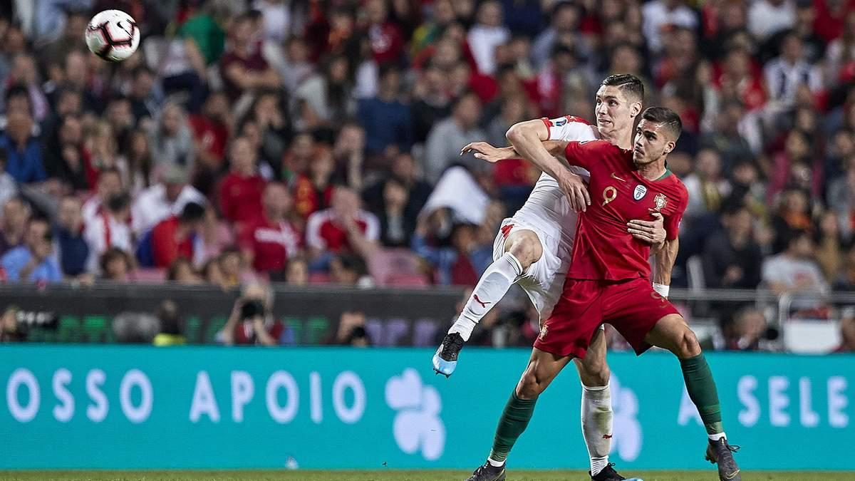 Португалія - Сербія: відео голів та огляд матчу - відбір на Євро-2020
