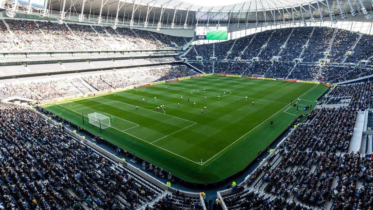 """""""Тоттенхем"""" зіграв перший матч на новому стадіоні: відео його будівництва"""