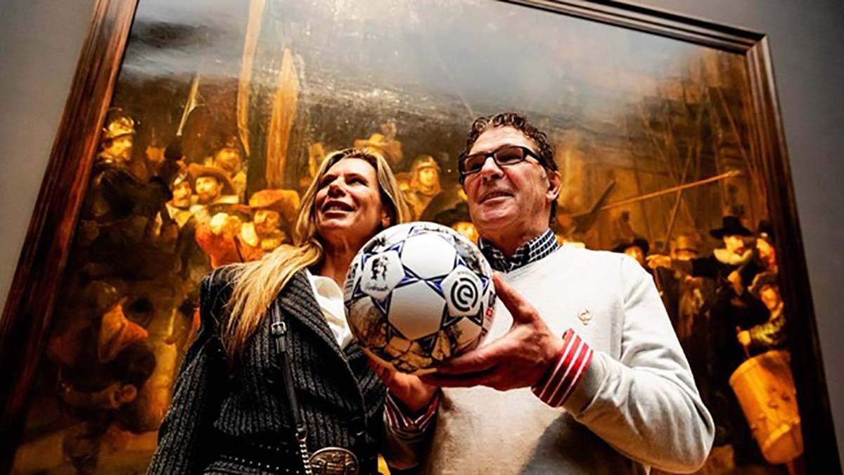В чемпионате Нидерландов будут играть мячом с сюжетами картин Рембрандта: видео