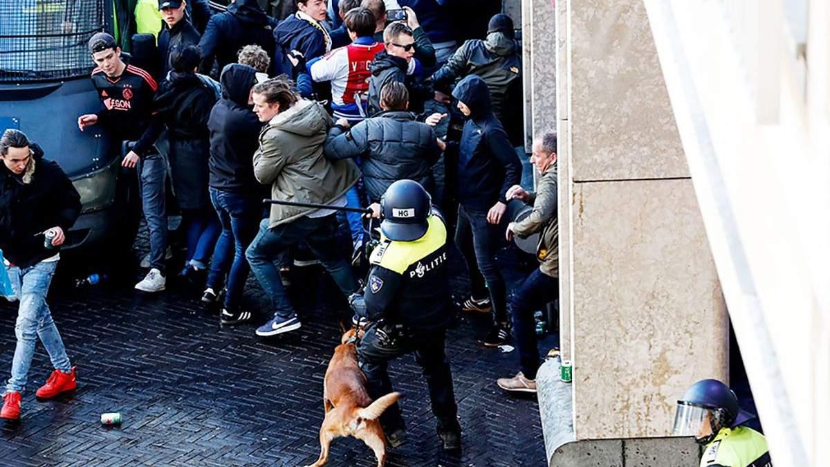 """Фаны """"Ювентуса"""" устроили беспорядки в Амстердаме – 120 задержанных: видео"""