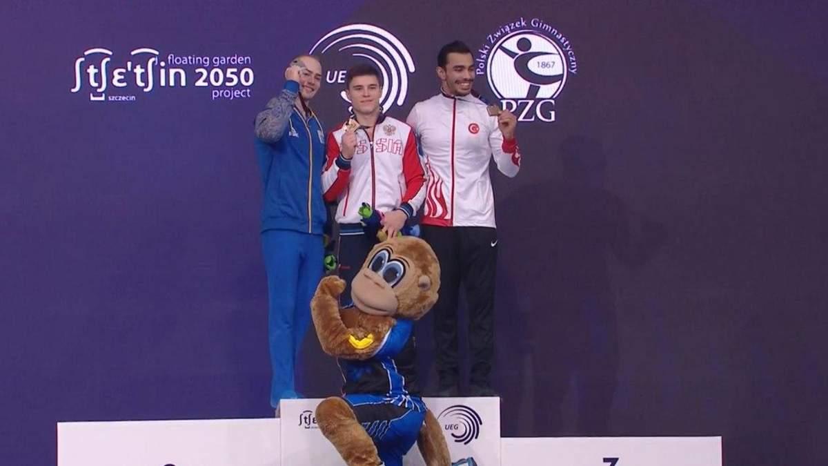 Украинский гимнаст выиграл серебряную награду на Чемпионате Европы