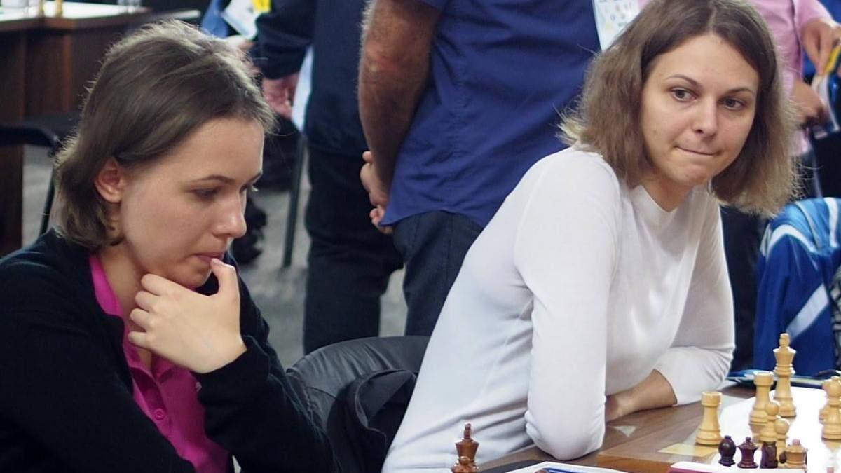 Сестры Музычук сыграли друг против друга на шахматном турнире в России