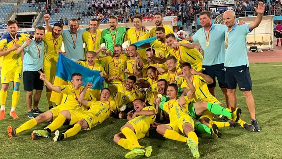 Дефлимпийская сборная Украины по футболу стала чемпионом Европы