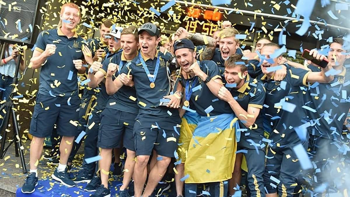 Футболистам сборной Украины U-20 присвоили высокое спортивное звание