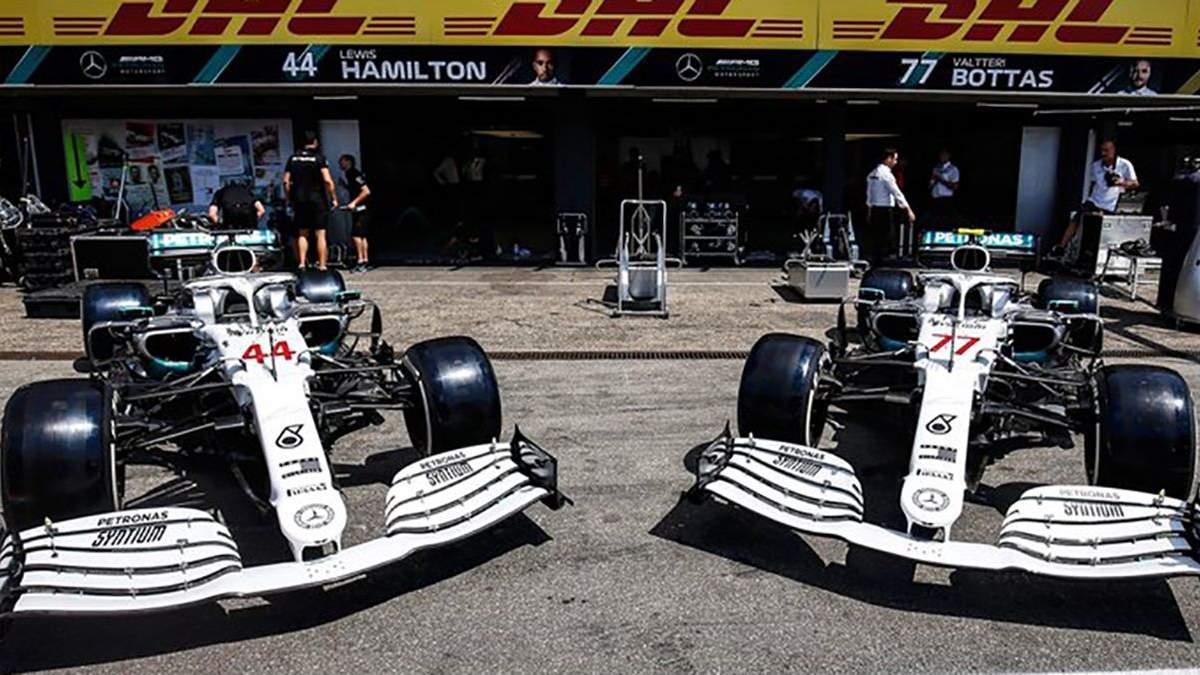 Mercedes представил особенную ливрею на свои болиды на Гран-при Германии: фото