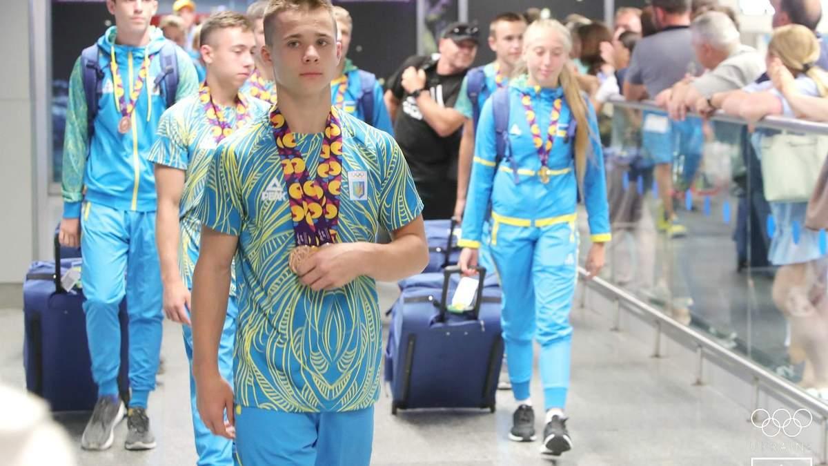 Як в Україні зустріли юних олімпійців після турніру в Баку-2019: фото з аеропорту