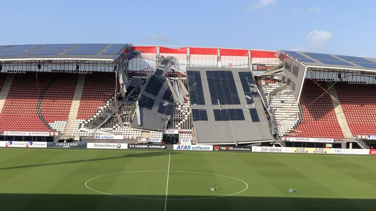 """На стадионе соперника """"Мариуполя"""" в Лиге Европы обрушилась крыша: фото"""