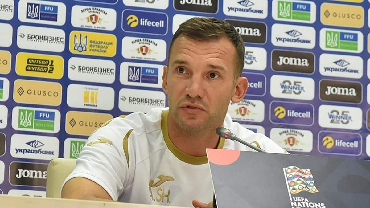 Шевченко оцінив стан збірної перед матчем з Литвою