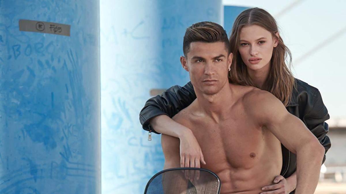 Украинская модель снялась в рекламе с Криштиану Роналду: соблазнительные фото девушки