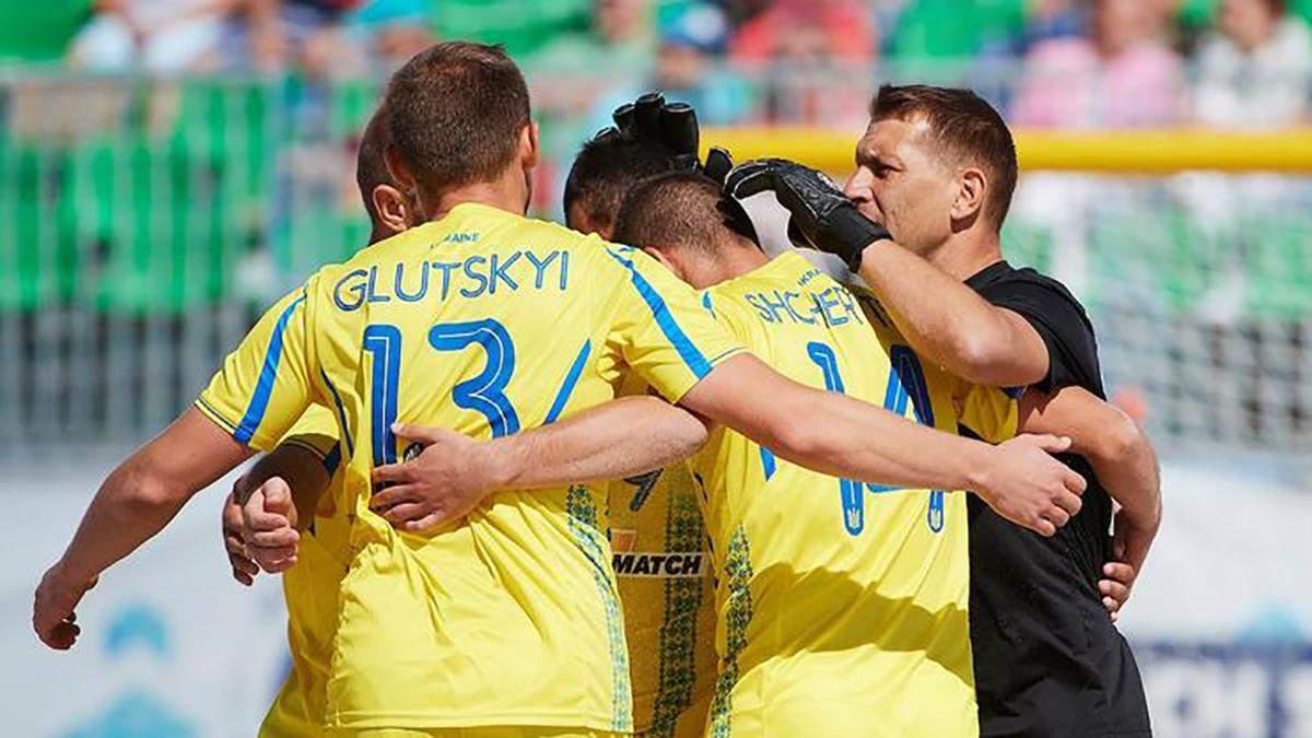 Сборная Украины по пляжному футболу заняла седьмое место в Суперфинале Евролиги