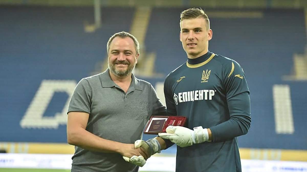 Воротар Андрій Лунін отримав орден перед матчем збірної України проти Нігерії