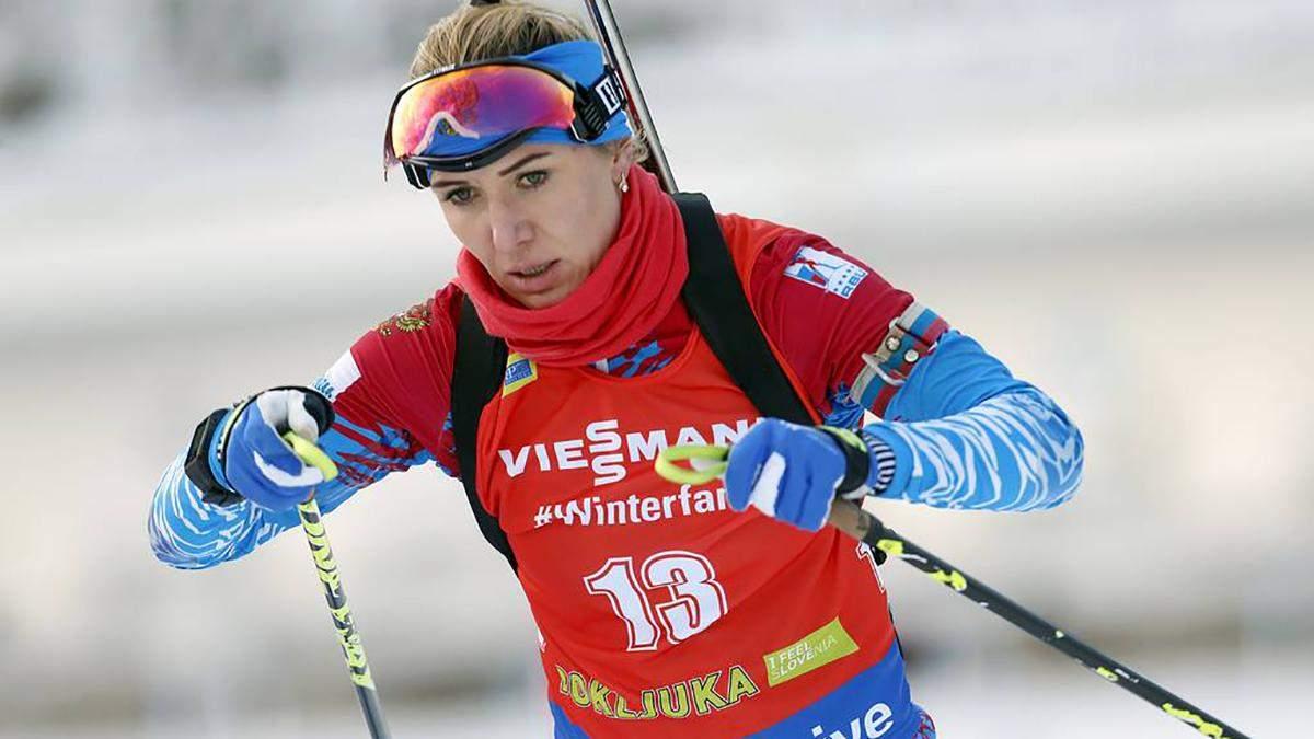 Російську біатлоністку дискваліфікували за пропуск трьох допінг-тестів