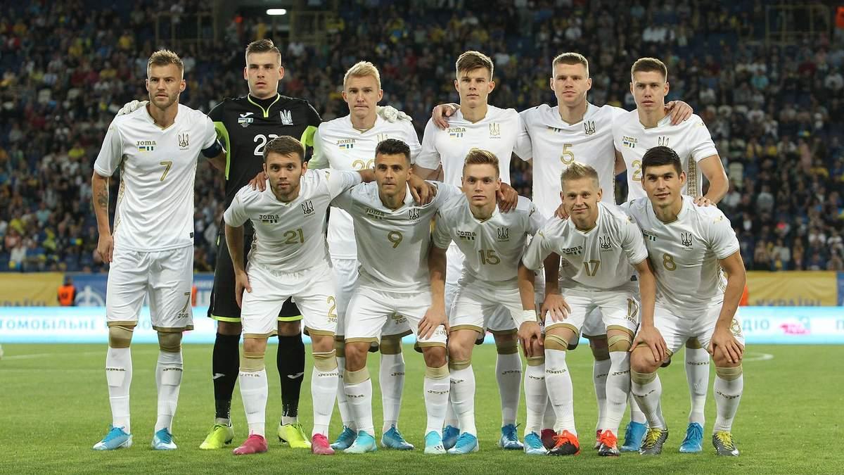 Збірна України втримала позицію в оновленому рейтингу ФІФА