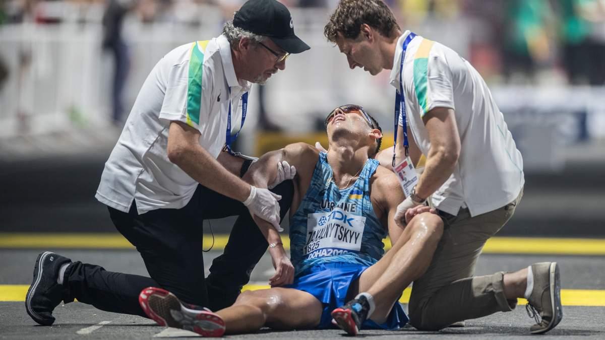 У Катарі український легкоатлет впав від виснаження після фінішу