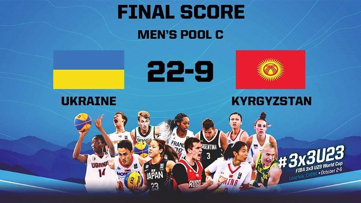 Мужская сборная Украины по баскетболу выиграла первый матч на чемпионате мира 3x3
